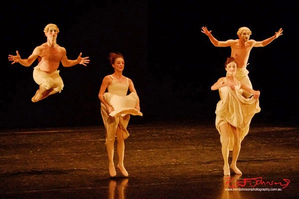 Jumping for joy, Sechs Tänze,The Australian Ballet - Preview & Dress Rehearsal - Photographed by Kent Johnson.