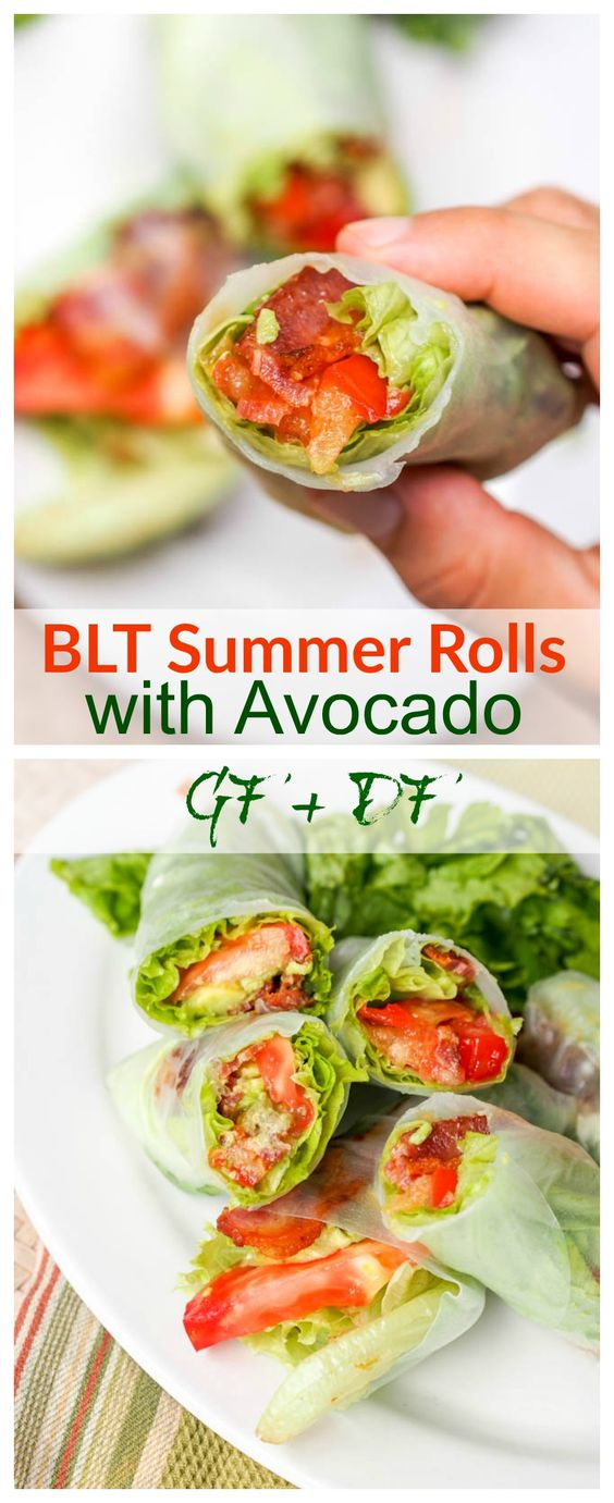 BLT SUMMER ROLL RECIPE WITH AVOCADO