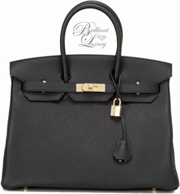 Brilliant Luxury ♦ Hermès Black Togo Birkin Bag