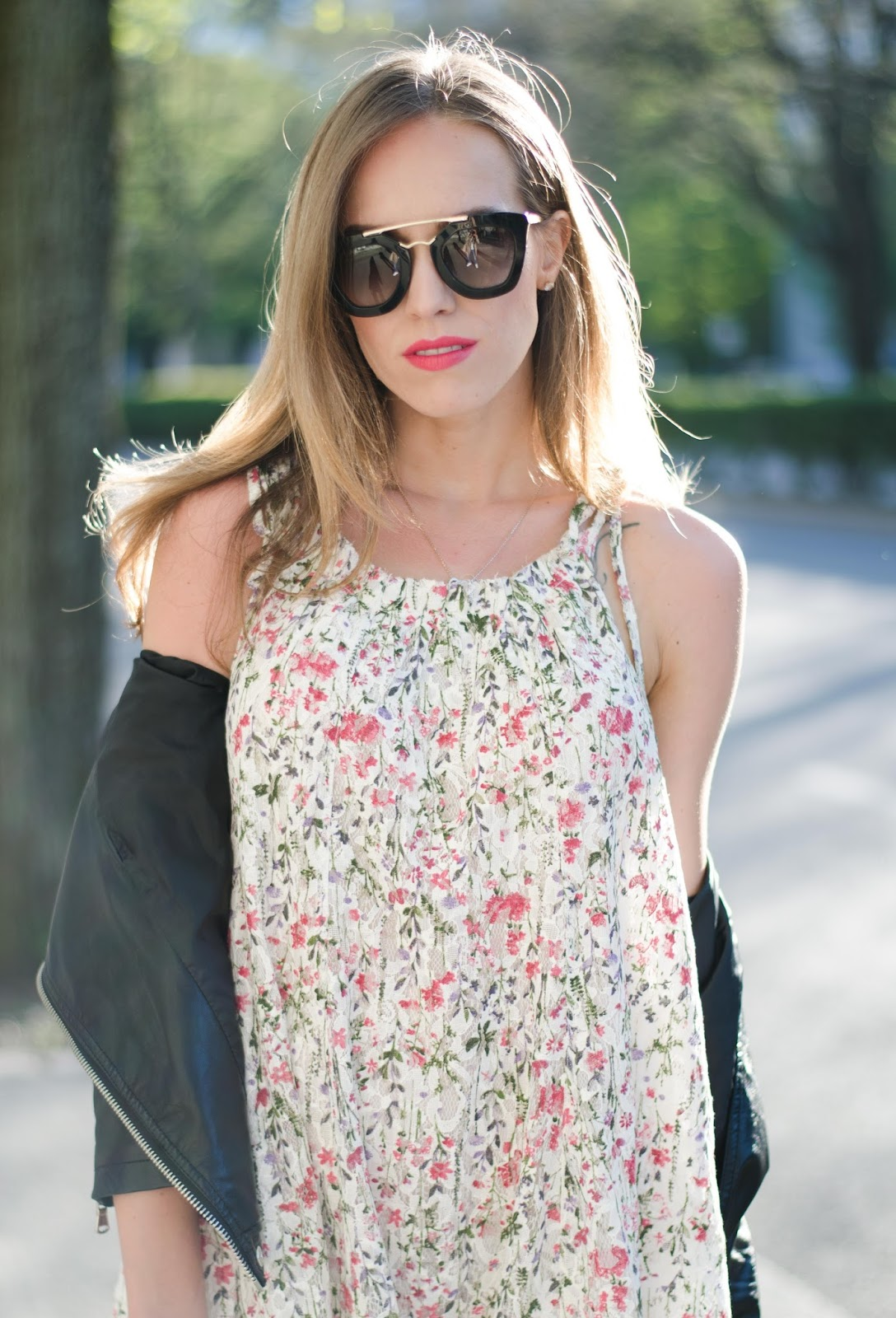 kristjaana mere floral strap dress outfit