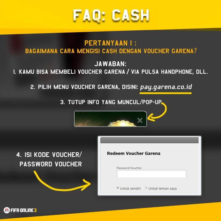 Cara Isi Cash Dengan Voucher Garena Fifa Online 3 Indonesia