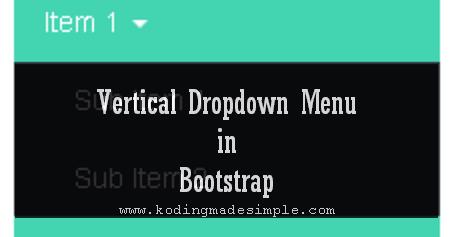 Bootstrap Vertical Dropdown Menu Example | Multilevel Menu