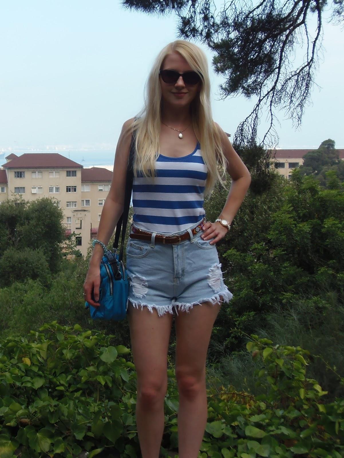 3c4157cd185 Vest top – Next High waisted shorts – Boohoo Aztec belt – New Look Bag –  Kipling