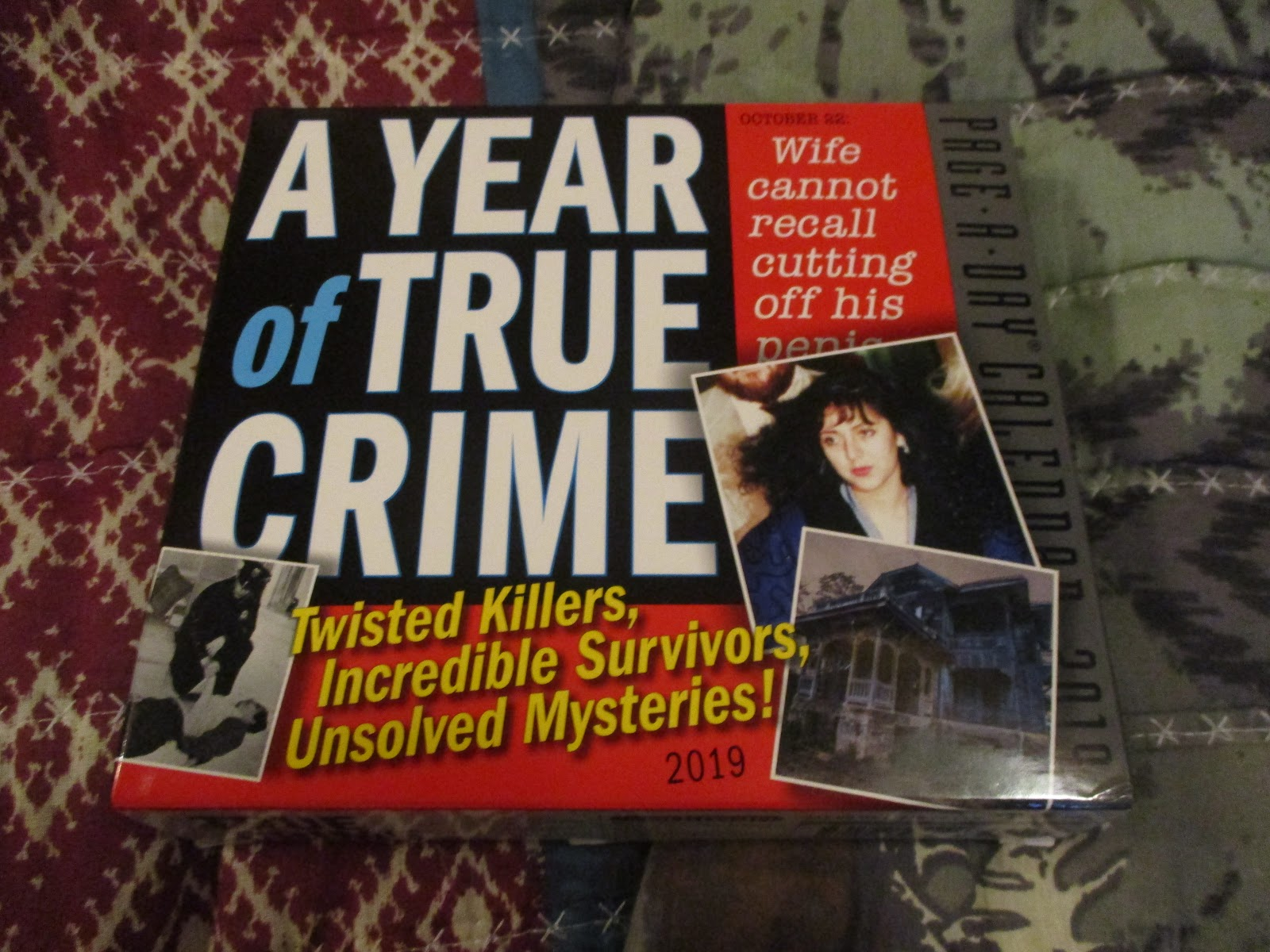 a year of true crime 2019 page a day calendar from workman publishing tales of true crime tantalize sparking morbid curiosity and intrigue