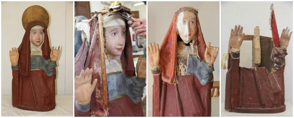 Restauración de María Magadalena del conjunto escultórico de Pollença