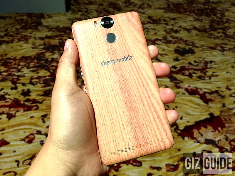 Wooden like back cover design of Flare S5 Power