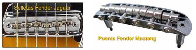 Puentes de las Guitarras Jaguar y Mustang