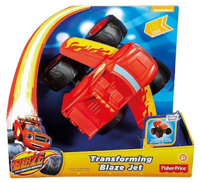 TOYS : JUGUETES - Blaze y los Monster Machines Turbo transformación Avión a reacciónCoche - Vehiculo | Fisher-Price Producto Oficial Serie Nickelodeon 2016 | Mattel DTB72  A partir de 3 años | Comprar en Amazon España