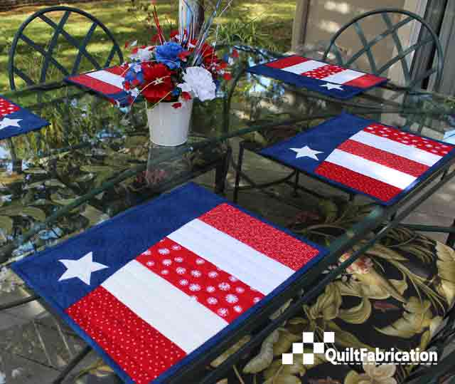 Patriotic Placemats to match the Patriotic Wave Table Runner