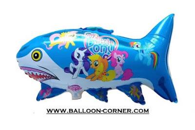 Balon Foil Karakter Ikan Hiu Motif MY LITTLE PONY