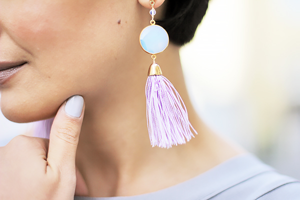 plum dor earrings