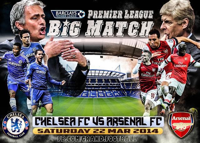 Jadwal Siaran langsung Chelsea vs Arsenal 19 September 2015