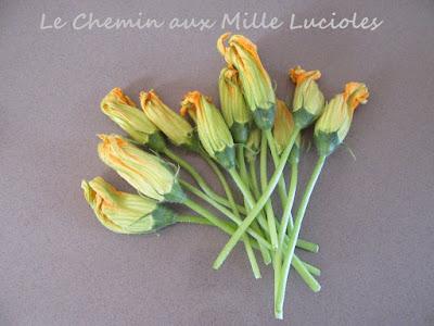 Beignets de fleurs de courgette - les fleurs