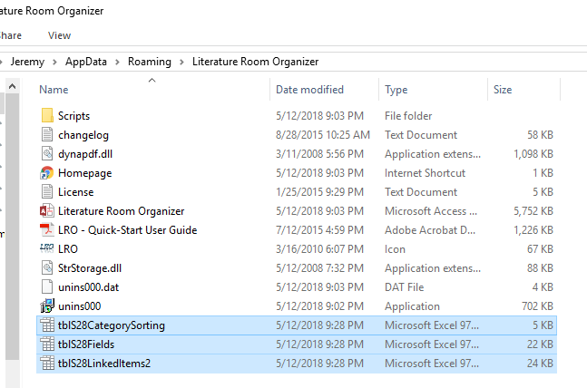 Drop all 3 of the files you downloaded into the LRO folder. Just like this: