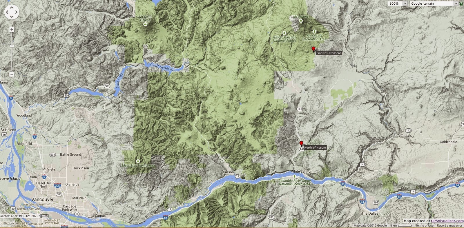 Mt Adams Washington Map.Adventures Of A Pine Cone Spider Collector 18 Aug 2011 South Of Mt