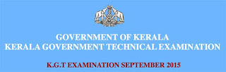 KGTE Examination Time Table 2015