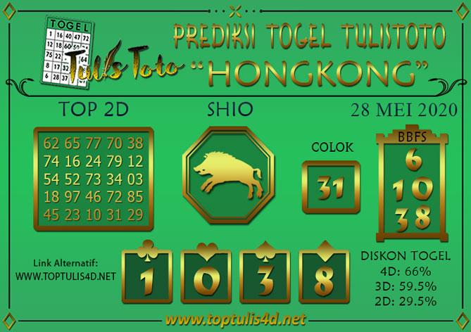 Prediksi Togel HONGKONG TULISTOTO 28 MEI 2020