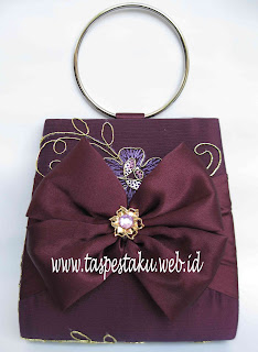 purple tas pesta clutch bag