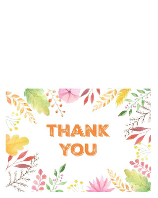 blank thanksgiving thank you card