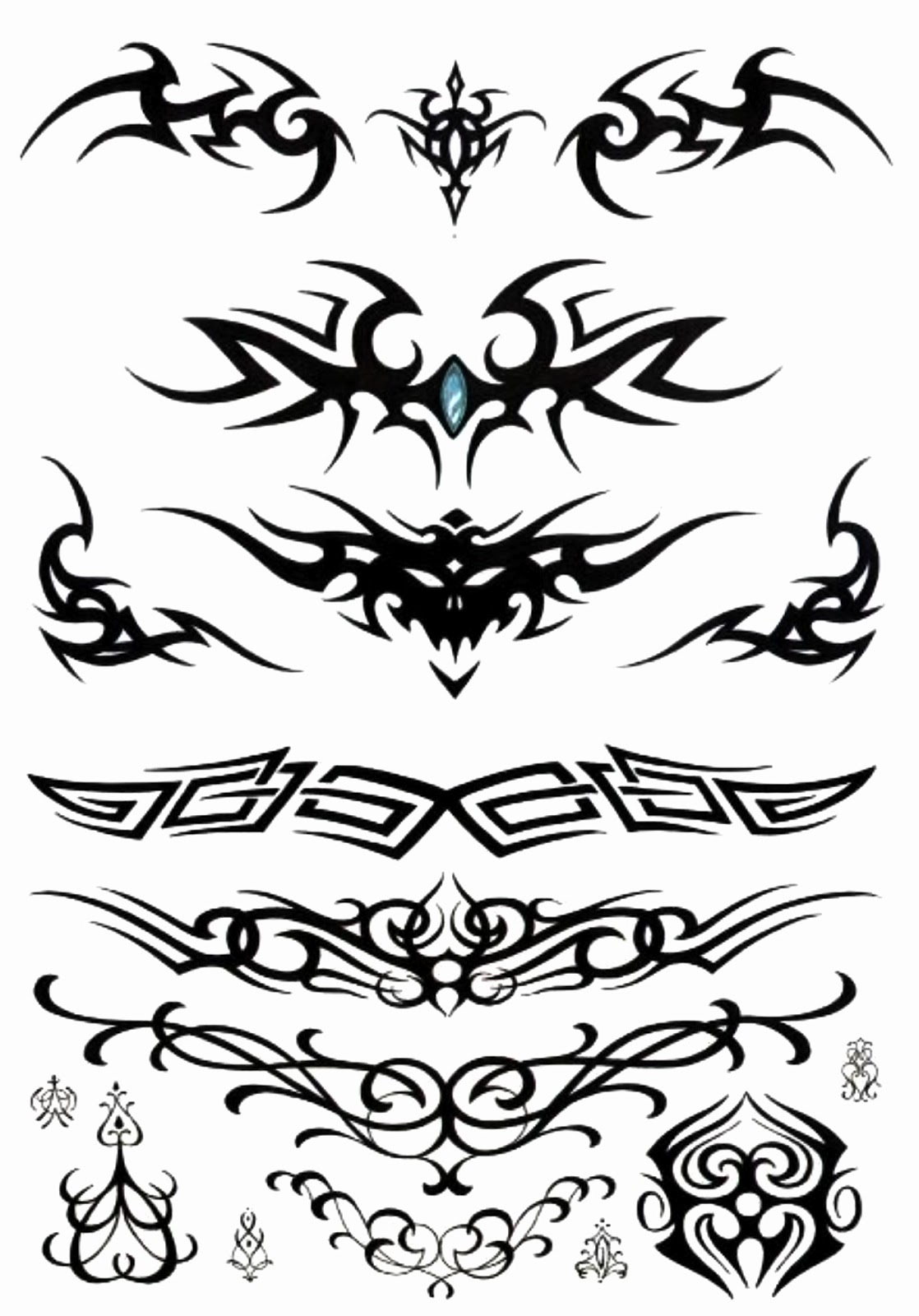 Horizontal Line Tattoo: Prince Tattoo: TRIBAL HORIZONTAL