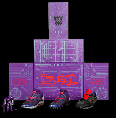 "Calvin Johnson ""Megatron"" Transformers Sneakers & Action Figure Pack by Nike"