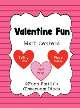 Fern Smith's Valentine's Day Math Centers - Including TEST PREP with STEAL and SLIDE!