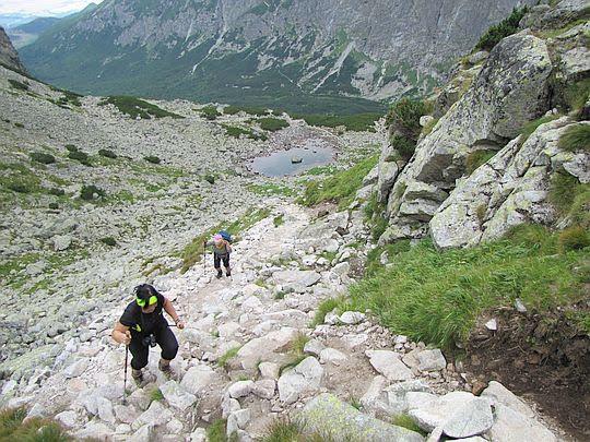 Podejście do górnego kotła lodowcowego Doliny Jagnięcej.