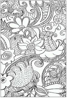 Mewarnai Dewasa Complex Flower Coloring Pages Bimbingan Belajar29