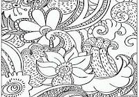 Izarnazar Gambar Mewarnai Batik Motif Bunga