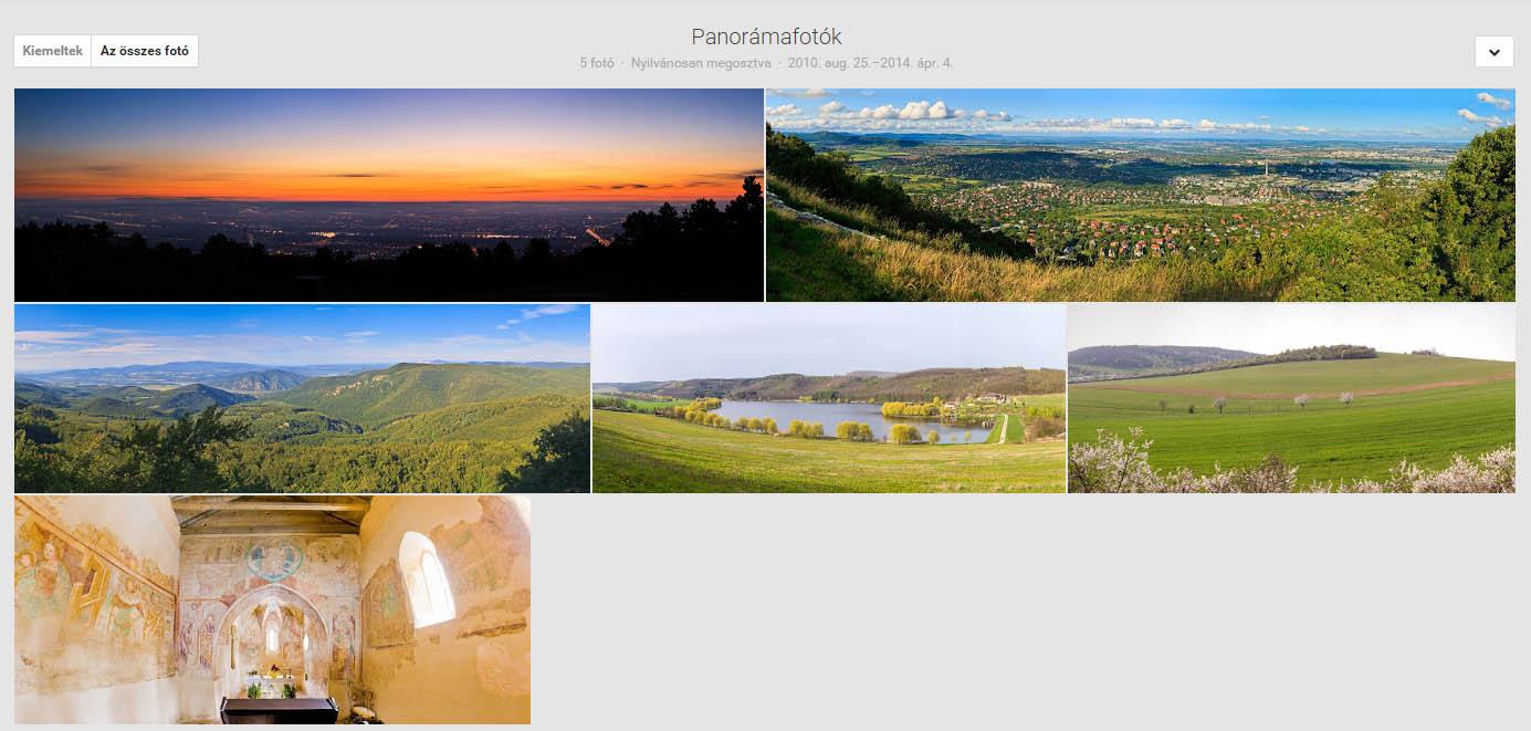 Google+ Panorámafotók Mayer Miklós