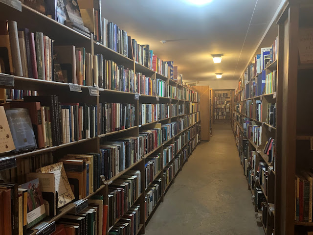 Books as far as the eye can see at Midtown Scholar in Harrisburg, Pennsylvania