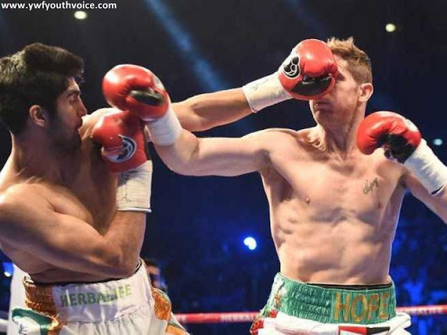 Vijender Singh vs Kerry Hope in New Delhi, Vijender Singh wins WBO Asia Pacific Super Middleweight title beating Kerry Hope