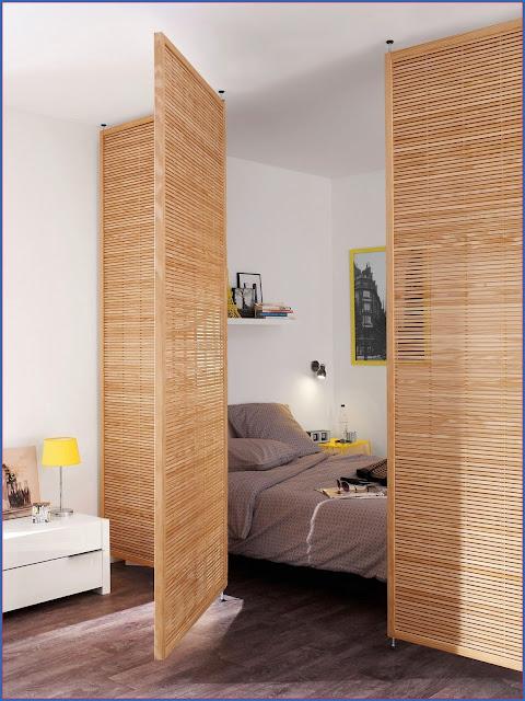 Vách ngăn phòng ngủ bằng gỗ 08