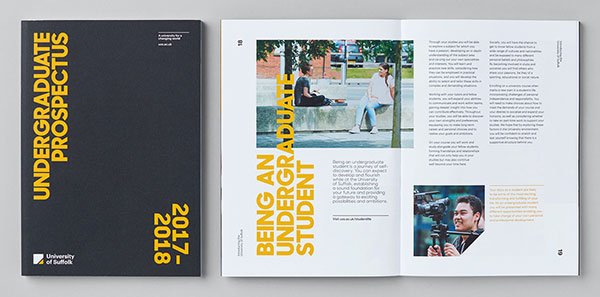 Inspirasi 20+ Desain Brosur dan Katalog Modern - Suffolk University Catalogue Design