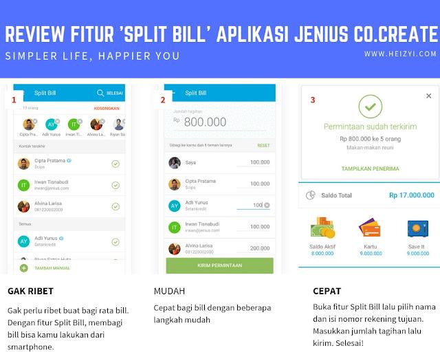 Review Fitur Split Bill Aplikasi Jenius Co Create BTPN