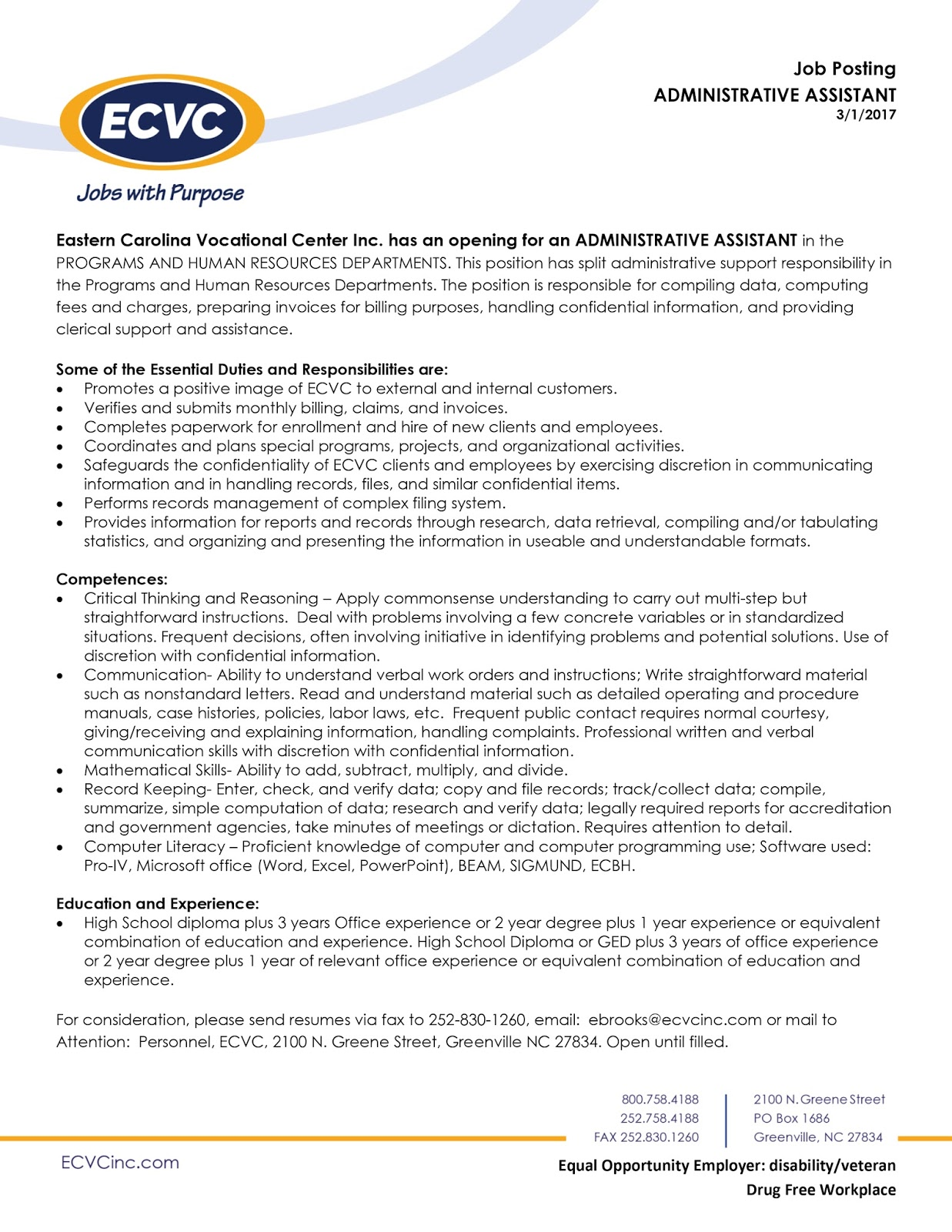 Pcc Career Readiness Certificate March 2017