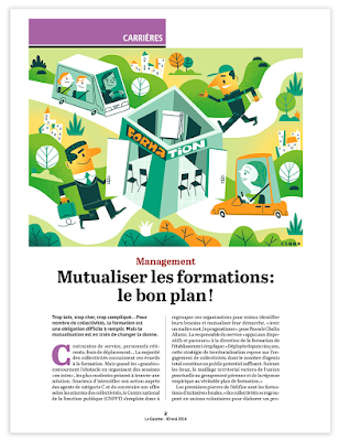 Clod illustration Gazette des communes Mutualiser les formations