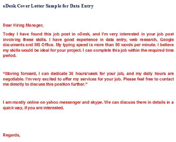 Odesk Cover Letter For Article Writer Cover Letter Samples For