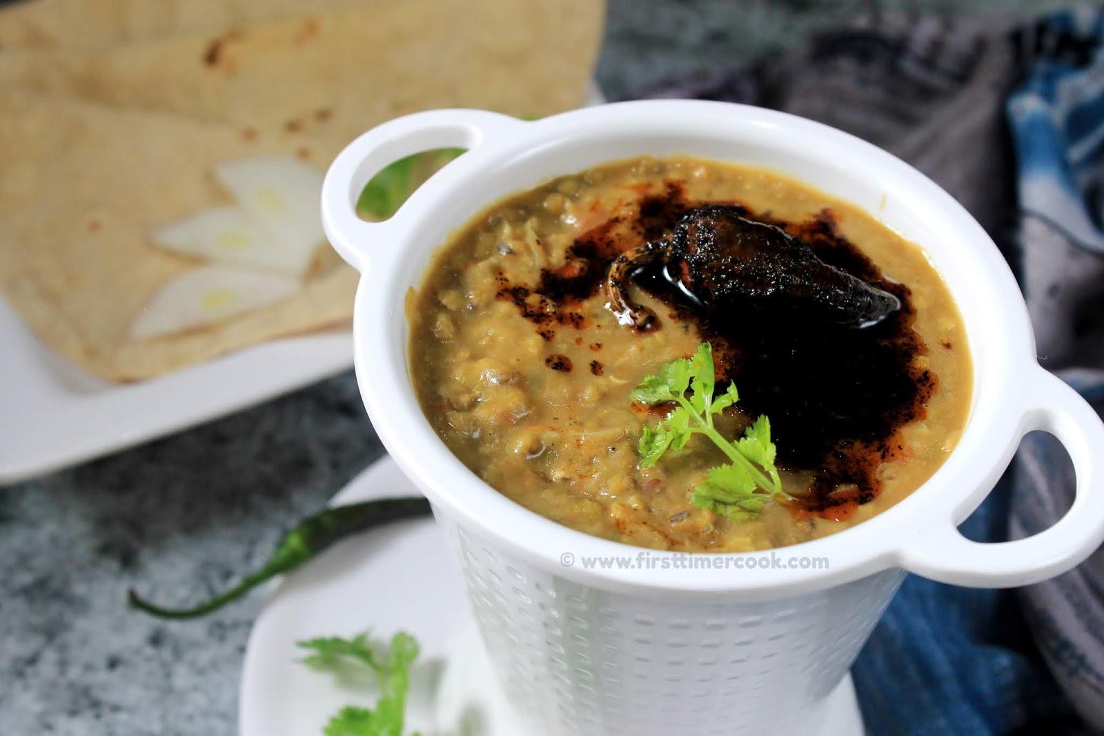 First Timer Cook: Punjabi Moong ki Dal | Whole Green Gram