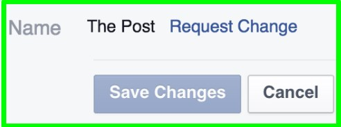 change facebook page name on mobile