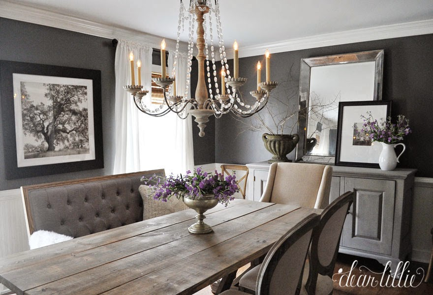 Dear Lillie: Kendall Charcoal In Our Dining Room