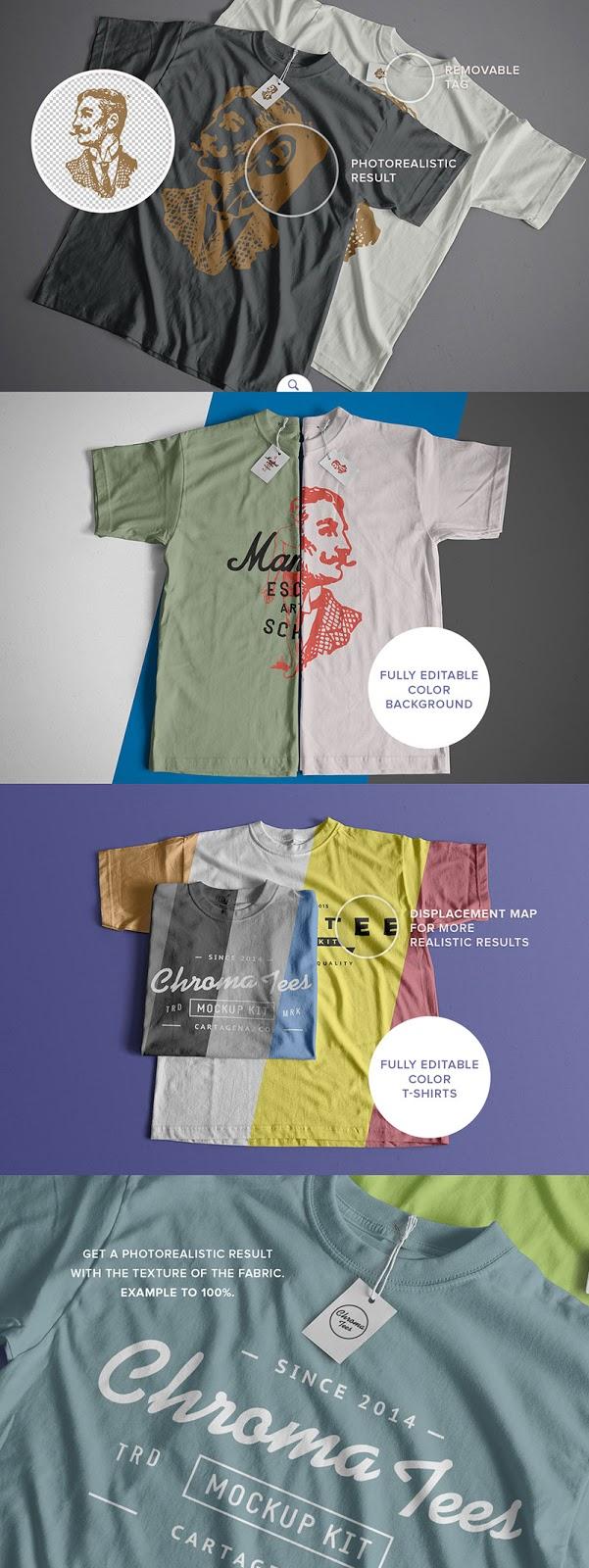 21 T-Shirts Mockup Scenes