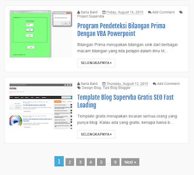 memperbaiki halaman navigasi blog