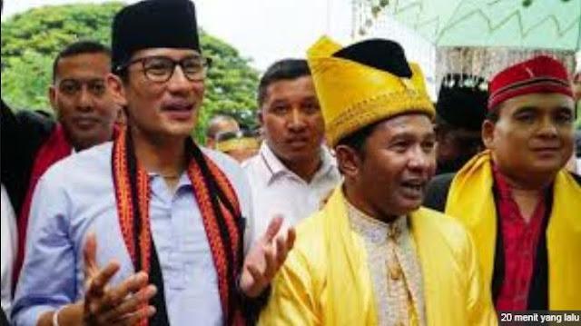 Kampanye di Aceh, Sandiaga Uno Disambut Para Pewaris Raja
