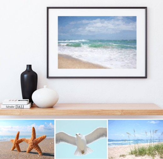 Printable Instant Download Beach Art Photos