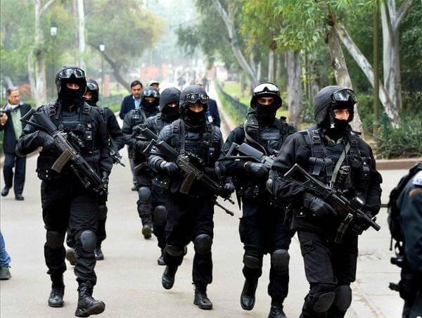 NSG commandos in black uniform