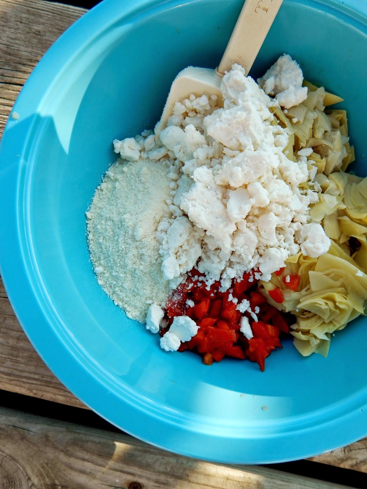 warm feta & artichoke dip (sweetandsavoryfood.com)