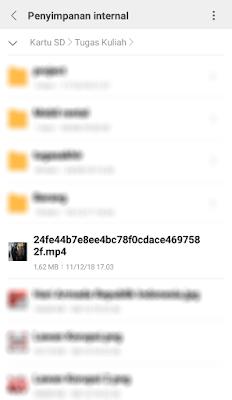 Berkas di pindahkan ke folder lain
