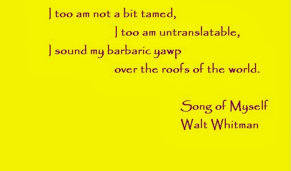 Walt Whitman Quote Song of Myself