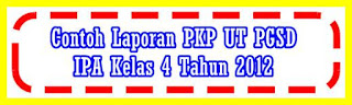 Contoh Laporan PKP UT PGSD PDGK IPA Kelas 4 Tahun 2012